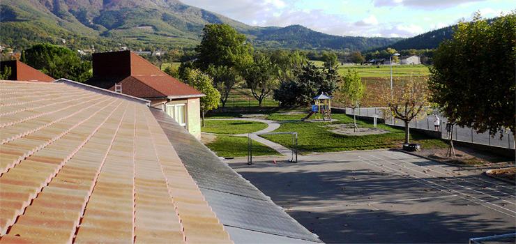 Installation photovoltaïque sur le toit de l'école de Gaubert