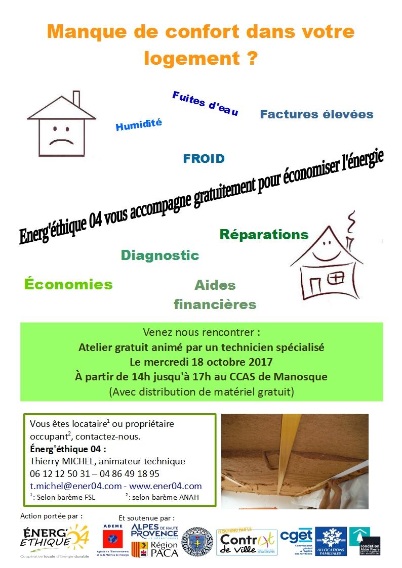 ateliers économies d'énergie au CCCAS de Manosque