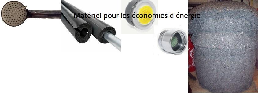matériels pour les économies d'énergie